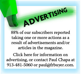 FR Buyer advertising <em>Frozen & Refrigerated Buyer</em> magazine