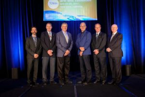 2017-2018 Officers of the IARW Board and WFLO Board of Governors (from l to r) – Nick Pedneault, WFLO Chairman, Congebec Logistics; Paul Henningsen, WFLO Vice Chairman, Henningsen Cold Storage; Don Dick, WFLO Treasurer, Dick Cold Storage; ...